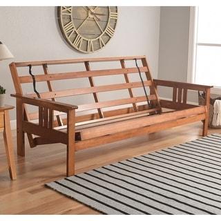Copper Grove Porters Honey Oak Full-size Wood Futon Frame