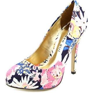 Madden Girl Hollisss Round Toe Canvas Heels
