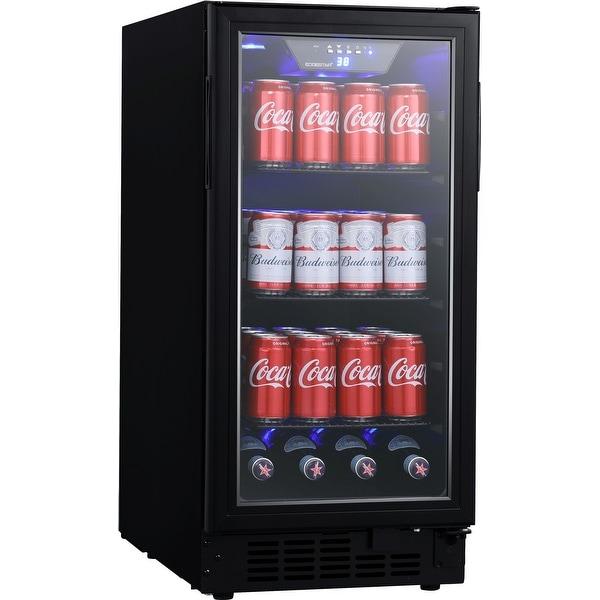 "EdgeStar BBR901BL 15"" Wide 80 Can Built-In Beverage Center with Slim - Black. Opens flyout."