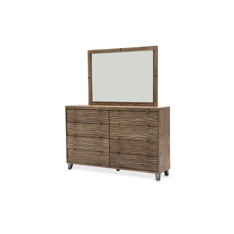 AICO Del Mar Sound Boardwalk Dresser and Mirror
