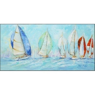 Carolines Treasures JMK1303HRM2858 Sailboats Regatta Indoor & Outdoor Runner Mat 28 x 58 in.
