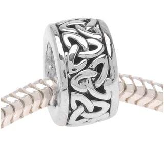 Silver Tone Trinity Celtic Knot Bead - European Style Large Hole (1)