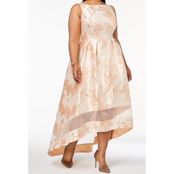 0c91db956b Shop Adrianna Papell Pink Women s Size 14W Plus Hi Low Gown Dress ...