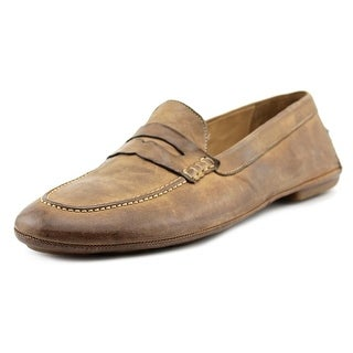 Pantofola d'Oro Jalen Men Round Toe Leather Tan Loafer