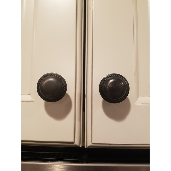 Shop GlideRite Oil Rubbed Bronze 1.125 Inch Round Rope Cabinet Knobs (Pack  Of 10)   Free Shipping On Orders Over $45   Overstock.com   9190219