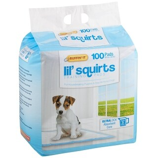 "Ruffin It 82100 Lil Squirts Training Pads, 21"" x 22"", 100/Pack"
