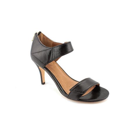 Corso Como Womens Delilah Leather Open Toe Ankle Strap D-orsay Pumps