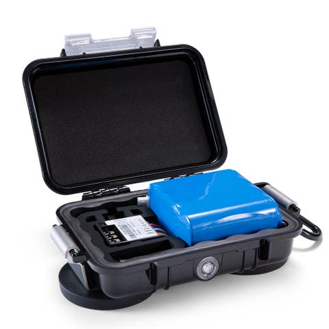 Spytec M6 6-Month Extended Battery for STI_GL300 GPS Tracker with Waterproof Magnetic Case