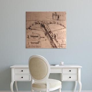 Easy Art Prints Leonardo da Vinci's 'Design for a Crossbow' Premium Canvas Art