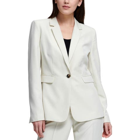DKNY Womens One-Button Suit Jacket Suit Separate Office Wear