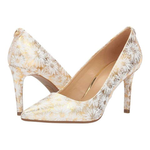 8148ed1d223e Michael Michael Kors Womens Dorothy Leather Pointed Toe Classic Pumps
