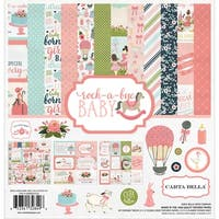 "Carta Bella Collection Kit 12""X12""-Rock-A-Bye Baby Girl"