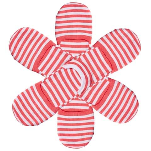 Hue 6-pk Womens High Cut Resort Liner Socks One Size Fits Most Pink Watermelon