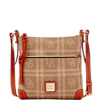 Dooney & Bourke DB Plaid Jacquard Letter Carrier (Introduced by Dooney & Bourke at $168 in Jul 2016) - Tan