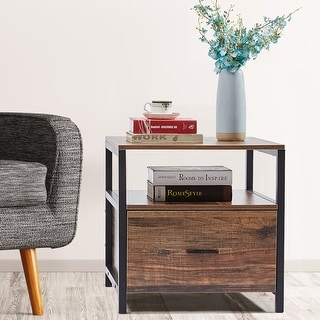 VECELO Square Side Tables /Sofa Tables/End Table/Nightstand
