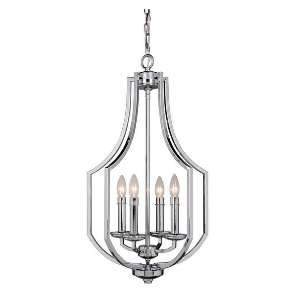 "Jeremiah Lighting 40034 Hayden 4-Light 16"" Wide Single Tier Cage Chandelier"