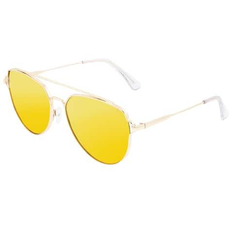Sixty One Nudge Polarized Sunglasses - Gold/Yellow - Yellow