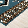 "Allstar Light Blue Woven High Quality Rug. Traditional. Persian. Flower. Western. Design Area Rug (3' 9"" x 5' 1"") - Thumbnail 2"