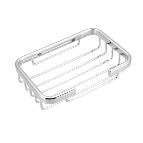 Soap Basket Dish Holder SUS304 Stainless Steel Wall Mounted Tray - Silver