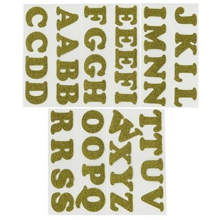 "Soft Flex Iron-On Letters 1.25"" Cooper-Gold Metallic - GOLD"