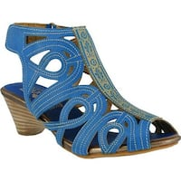L'Artiste by Spring Step Women's Flourish Turquoise Leather