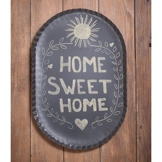 Irvin's Country Tinware Oval Crimped Tin Blackboard