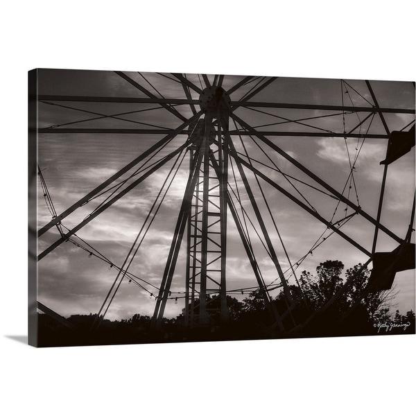 """Ferris Wheel at Sunset"" Canvas Wall Art"