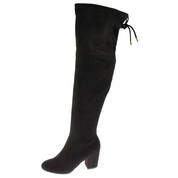 Steve Madden Womens Carmel Over-The-Knee Boots Faux Suede Covered