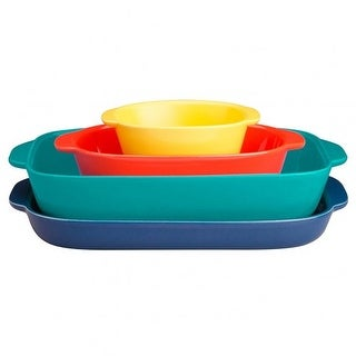 CorningWare Ovenware Nesting Bakeware Set, Multi-Color, 4-Pieces