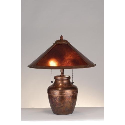 Meyda Tiffany 77774 Craftsman / Mission Accent Table Lamp From The Arts  U0026amp; Crafts Collection