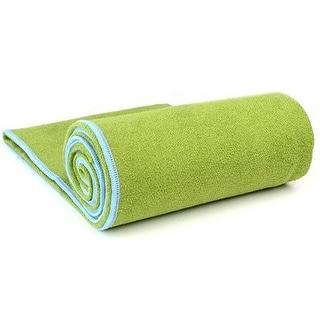 "YogaRat XL (26"" x 85"") Microfiber Yoga Towel - Olive/Sky"