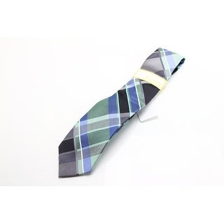 Michael Kors NEW Green Blue Multicolor Playful Plaid Neck Tie Silk