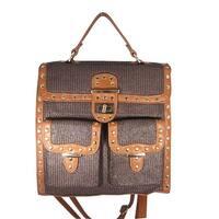 Aryana Junior Womens Brown Top Flap Shira Convertible Tote Backpack - One size
