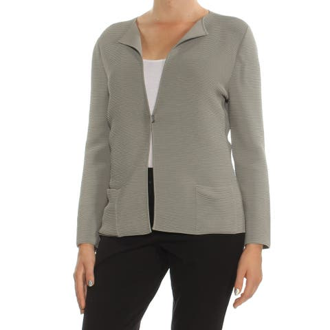 ARMANI Womens Gray Blazer Jacket Size: 8