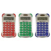 (5 Ea) Colorful 8 Digit Handheld Calculator