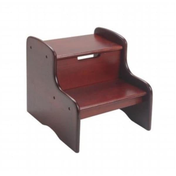 Peachy Giftmark 1404C Childrens Two Step Stool Cherry Finish Short Links Chair Design For Home Short Linksinfo