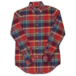Ralph Lauren Mens Plaid Cotton Button-Down Shirt