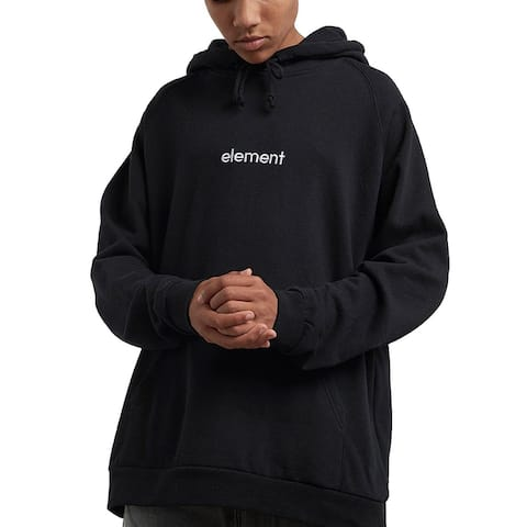 Element Mens Sweater Black Size Large L Drawstring Hooded Pullover