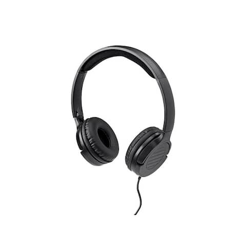 Monoprice Hi-Fi Lightweight On-Ear Headphones, Solid Bass W/ Built-In