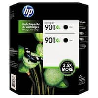 HP 901XL High Yield Twin Pack Original Ink Cartridges, Black (2 pk., 700 Page Yield)