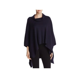 Eileen Fisher Womens Poncho Sweater Merino Wool Cowl Neck - o/s