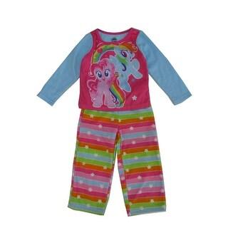 Hasbro Girls Multi Color My Little Pony Print 2 Pc Pajama Set