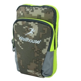 Wellhouse Authorized Phone Holder Workout Sports Arm Bag Camouflage Army Green