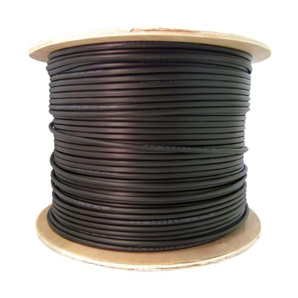 Offex 12 Fiber Indoor/Outdoor Fiber Optic Cable, Singlemode 9/125, Plenum Rated, Black, Spool, 1000ft