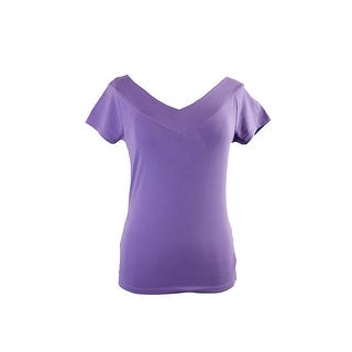 Lauren Ralph Lauren Iris Short-Sleeve Stretch V-Neck T-Shirt XL