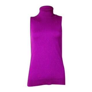 Lauren Ralph Lauren Women's Sleeveless Turtleneck Sweater (S, Holiday Purple) - S