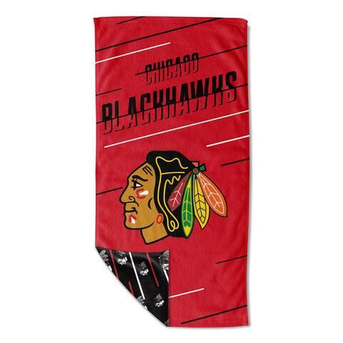 NHL 983 Blackhawks Splitter Beach Towel w/ Mesh Bag - 36x72