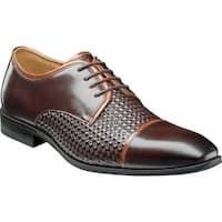 Stacy Adams Men's Forte Cap Toe Oxford 25180 Brown/Cognac Leather