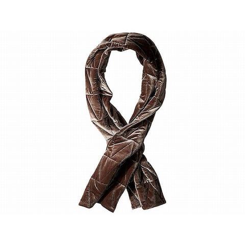 Vince Camuto Dark Gray One Size Velvet Knit Puff Chevron Scarf