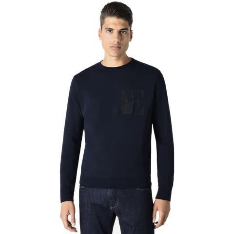 Emporio Armani Mens Logo Sweatshirt Large Dark Blue